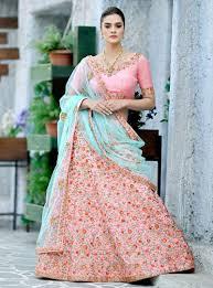 Light Pink Indian Wedding Dress Buy Light Pink Silk Indian Wedding Lehenga In Uk Usa And Canada