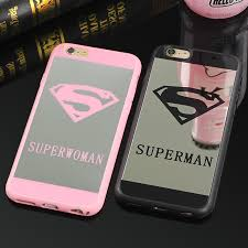 mirror iphone 7 plus case. jamular superman mirror surface case for iphone x 7 plus 5s se chrome back cover 6s 6 8 cases coque fundas-in fitted from iphone c