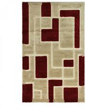 venice imperial red beige abstract rug by flair rugs 4