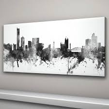 recent manchester skyline cityscape black and whiteartpause regarding cityscape canvas wall art gallery 14 of on manchester skyline wall art with photo gallery of cityscape canvas wall art showing 14 of 15 photos