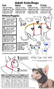 Animal Eye Size Chart Size Chart Cats Simply Sphynx Cat Clothes