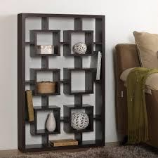Contemporary Shelves baxton studio eyer 6shelf modern display shelf in dark brown 3074 by xevi.us