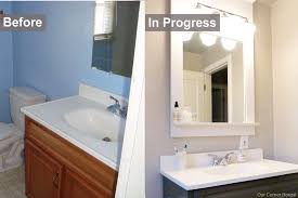cheap bathroom makeover. Unique Makeover Amazing Bathroom Makeover Ideas On A Budget With Fresh Manchester  Old Vanity 8939 Cheap 0