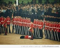 Guard faints during ceremony, other guards remain unwaiveringly ... via Relatably.com