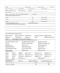 Workplace Accident Report Form Template Sample Incident