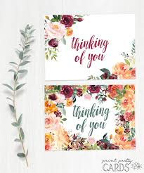 I thought i would share something that you can do during this time or even have the kids do! Free Printable Thinking Of You Cards Print Pretty Cards