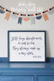 Free printable nursery wall decor you're decorating the nursery! Baby Boy Nursery Wall Art The Happy Scraps