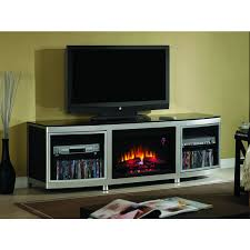 gotham electric fireplace media console in room