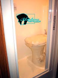 Shower Toilet Combo Shower Toilet Combo With Screen Door In A Full 6 Lq Bumper Pull