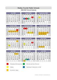 Shelby County Public Schools Calendar