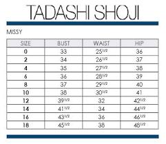 Tadashi Size Chart