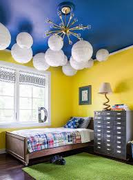 view in gallery blue ceiling in the kids bedroom is a showstopper design beth kooby design