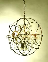 spherical chandelier metal orb chandelier spherical chandelier orb chandelier wood brown iron with crystal neon lamp