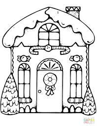 Gingerbread House Coloring Pages R Free Christmas For Adults Quotes
