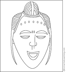 Small Picture Africa Guro mask Coloring Page EnchantedLearningcom