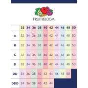Breast Size Chart Fruit Womens Comfort Front Close Sport Bra Style 96014