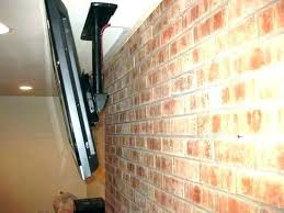 hang tv on brick wall how to hang a on a brick wall mount to brick hang tv on brick