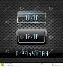 Futuristic Clock Futuristic Clock On Metal Background Stock Images Image 21862914