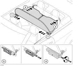 L składany dach montaż owiewki gdy owiewka jest zamontowana pasażerowie nie powinni podróżować w tylnej