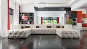 Details About Designer Chesterfield Xxl Wohnlandschaft Kristalle Textil Leder Sofa Couch Neu A