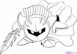 Small Picture Kirby Coloring Pages Meta Knight Coloring Home Coloring Coloring