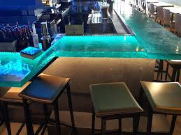 glass bartop glass glass top bar tables and stools