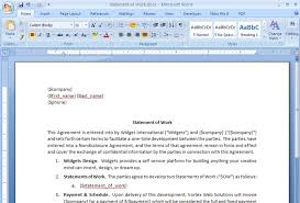 It Statement Of Work Create A Statement Of Work Contract From Salesforce Webmerge