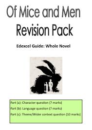 edexcel gcse english of mice men revision pack by ashleymarie  edexcel gcse english of mice men revision pack by ashleymarie teaching resources tes