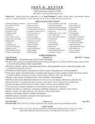 Automotive Technician Resume Examples Mechanic Resume Examples