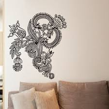 Small Picture Aliexpresscom Buy EHOME Mehndi Wall Stickers Design Indian