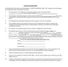 Apartment Sublease Template Business Sublease Agreement Template Contract Commercial Sublet