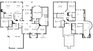 stunning idea u shaped 2 story 4 bedroom house plans perfect ranch arts bedroo planskill