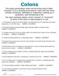 Punctuation Practice Makes Perfect   Workbook   Education additionally English Lesson Plan  Punctuation and Capitalization moreover Punctuation Worksheets   Ending Punctuation Worksheets furthermore Punctuation Worksheets Pdf   Switchconf in addition  as well Punctuation Worksheets   Semicolon Worksheets furthermore  in addition Punctuation Worksheets  Printables   Education further  furthermore 86 FREE ESL Punctuation worksheets likewise 10 best English  mas Worksheets images on Pinterest   Worksheets. on semicolon worksheets for middle school