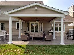Traditional Covered Porch & Patio