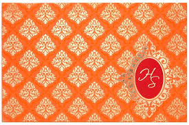 wedding invitation in orange color with water marked indian ecards free cards templates p