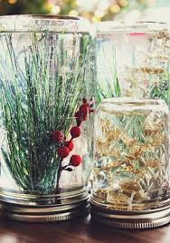 Glass Jar Table Decorations Mason Jar Christmas Decorating Ideas Clean And Scentsible 69