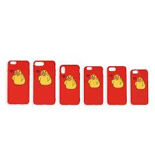 <b>Красный чехол для</b> iPhone «Уточки»