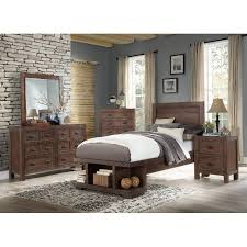 Contemporary Cherry 4 Piece Twin Bedroom Set - Tremaine | RC Willey ...