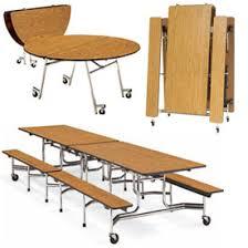 school lunch table. Virco® - Folding Roll-A-Way Table School Lunch