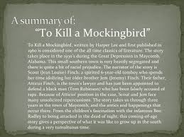 "student presentation to kill a mockingbird "" to"