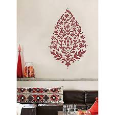 sari paisley large wall art stencil on paisley wall art stencil with paisley stencil large stencils for walls beautiful stencils to