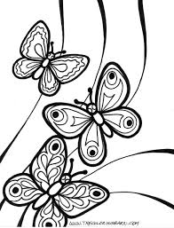 Butterfly With Flowers Coloring Pages For Color - fleasondogs.org