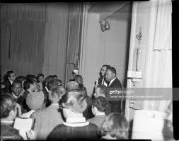 Dr. Martin Luther King Jr. and Dr. Clifford Hamm, on small stage ...