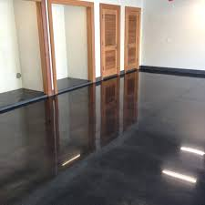 high polished stained concrete floor diy