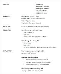 Simple Free Resume Template – Ahlussunnah.info