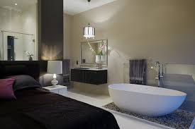 modern bedroom with bathroom. Wonderful Bedroom Bedroom Brilliant Modern With Bathroom 8  For O