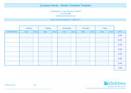 Editable Weekly Timesheet Template For Multiple Employees