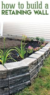 low retaining wall ideas home depot small wood backyard solutions on post ing landscaping front yard