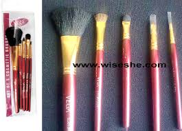 vega makeup brushset review