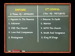 Rapture Vs Second Coming Chart The Rapture Vs The Second Coming Of Jesus Christ